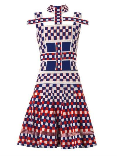 Alexander McQueen Graphic jacquard-knit dress