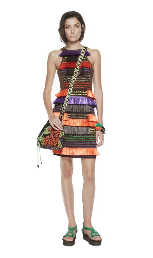 Missoni Orange and purple raffia dress